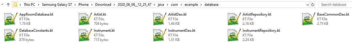 Source Code Files Kotlin